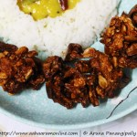 Deep-fried Budida Gummadikaya Vadiyalu | Sun-dried Ash Gourd Papad served with rice and dal