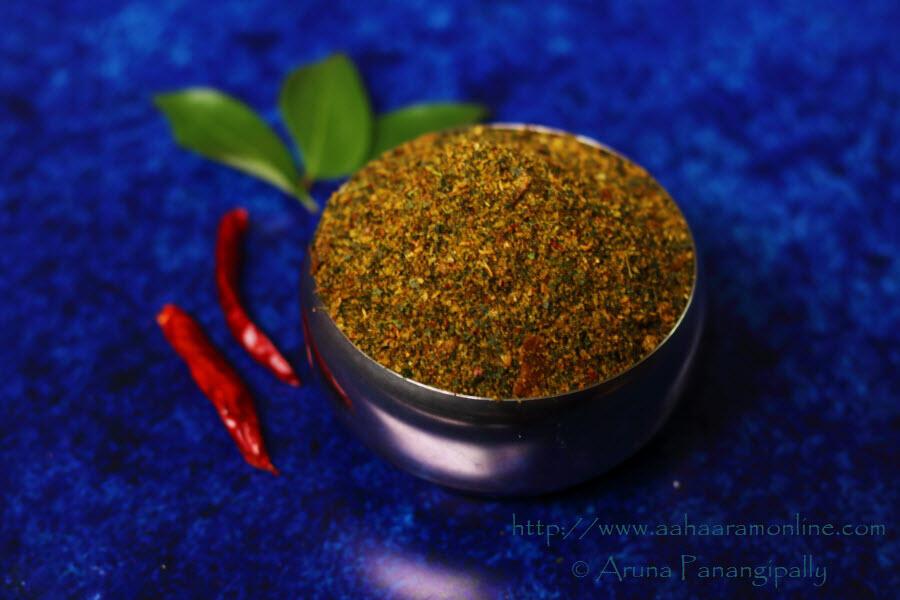 Andhra Curry Leaf Powder | Karivepaku Podi