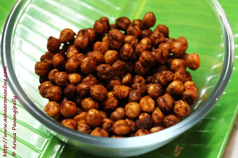 Chilli Flavoured, Crunchy Baked Chickpeas