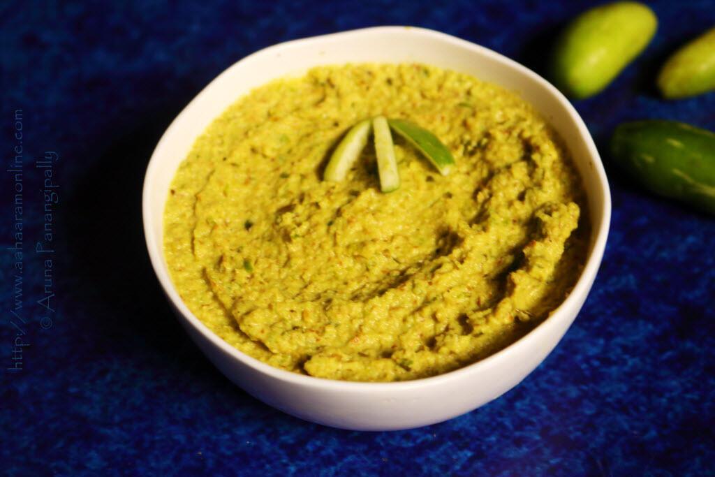 Andhra Dondakaya Pachadi | Tindora Chutney | Ivy Gourd Chutney