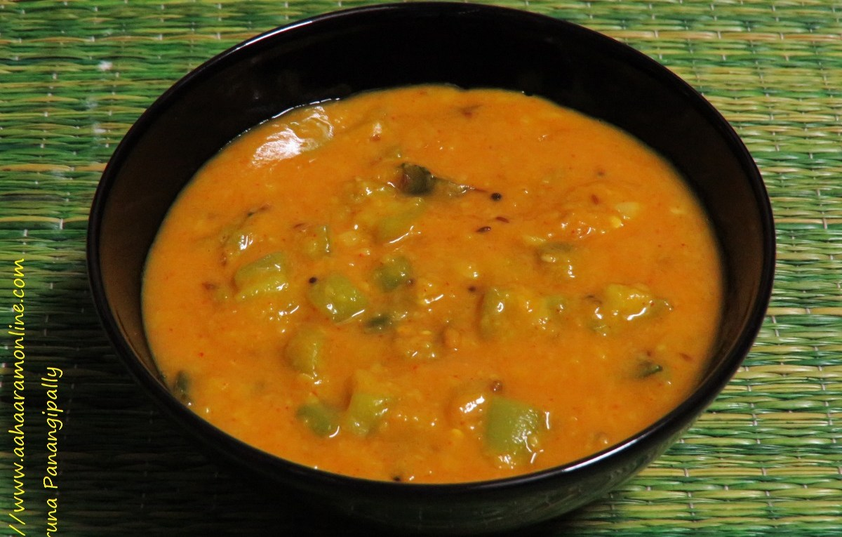 Beerakaya Pappu is a Andhra-style dal made with ridge gourd