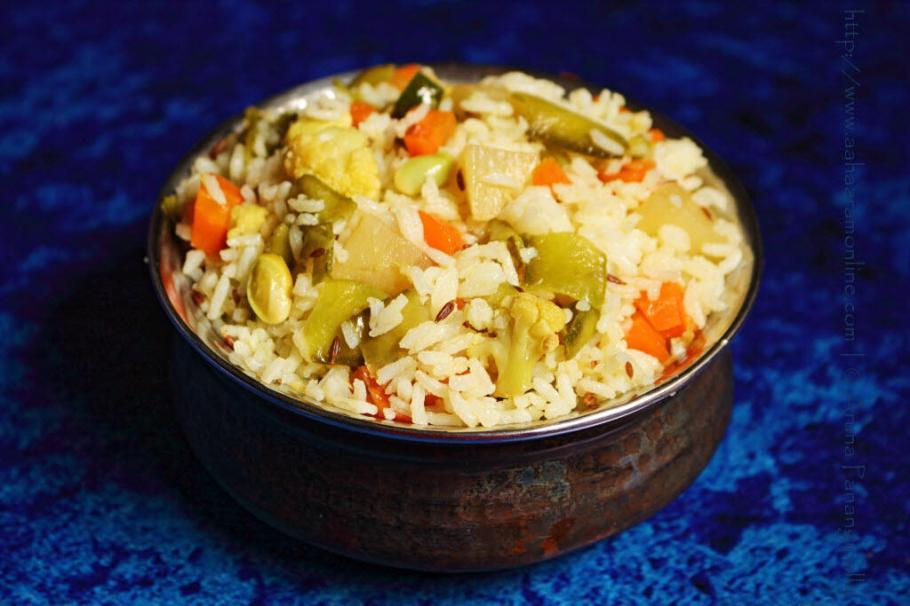 Shakhannam   Satvik Vegetable Pulav