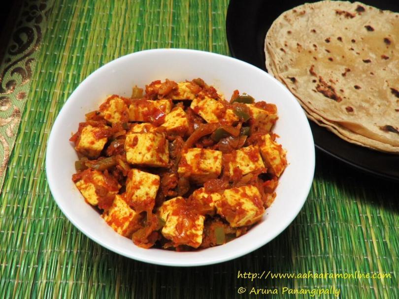 Tawa Paneer with Roti