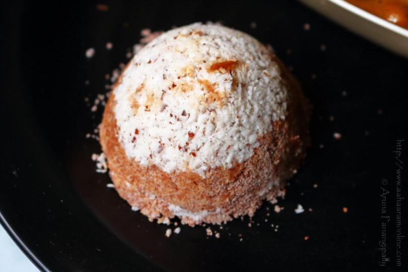Chiratta Puttu Made in a Coconut Shell