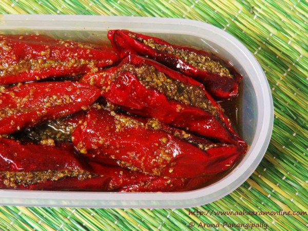 Bharwan Lal Mirch Ka Achaar | Stuffed Red Chilly Pickle