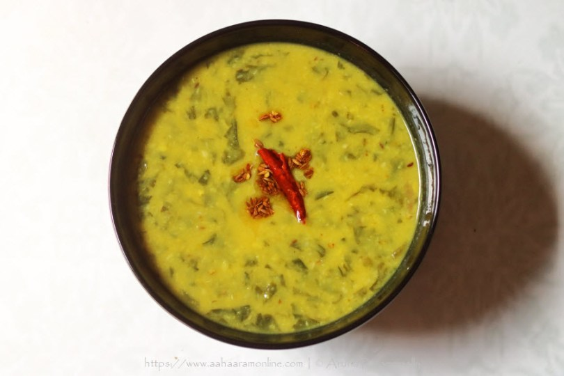 Moong Dal Palak | Green Gram with Spinach