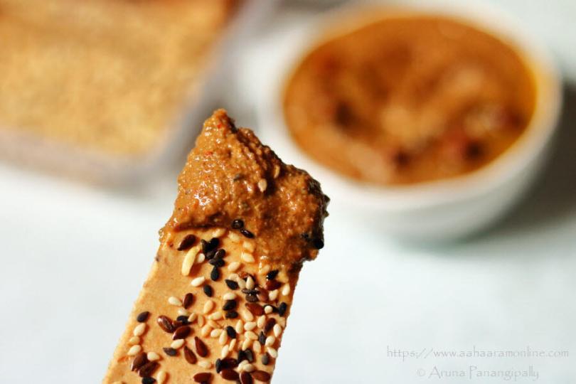 Lavash with Black Chickpea Hummus