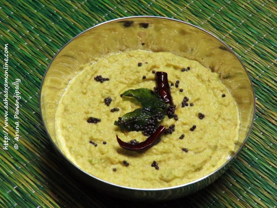 Andhra Raw Mango and Sesame Chutney