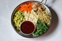 Vegetarian Bibimbap: Korean Rice with Vegetables Flavoured with Gochujang