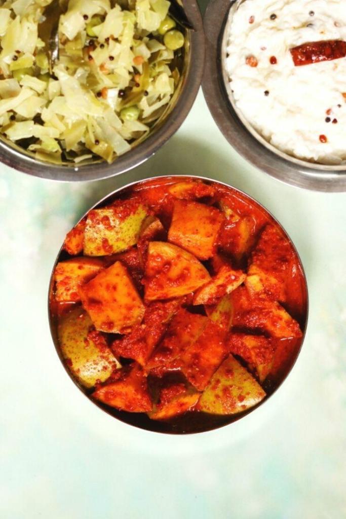 Mavinakayi Uppinakayi   No Oil Mango Pickle from Karnataka