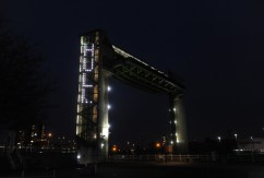 NEWS with story 2-2-217 aA new art installation takes place on the Tidal barrier. Picture: Simon Renilson