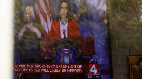 A news conference held by Michigan Governor Gretchen Whitmer