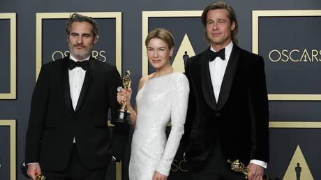 Joaquin Phoenix, Renee Zellweger and Brad Pitt at the 92nd Academy Awards © Reuters / Lucas Jackson