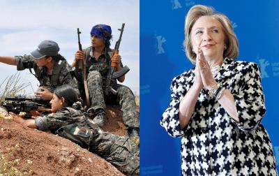 سابق امریکی وزیر خارجہ ہیلری کلنٹن کا کرد خواتین جنگجوؤں پر فلم بنانے کا اعلان: متعدد عالمی حلقوں نے مشرق وسطیٰ میں جنگ کی سیاست کو ہوا دینے کی کوشش قرار دے دیا