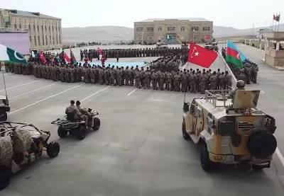 پاکستان، ترکی اور آزربائیجان کی مشترکہ عسکری مشقیں (3 بھائی- 2021) باکو میں جاری – ویڈیو