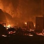 یونان: مہاجرین کی خیمہ بستی میں آگ، پناہ گزینوں کی حالت ناگفتہ بہ