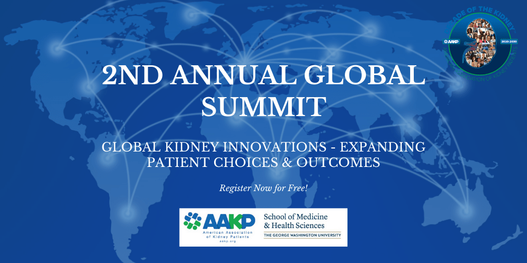 U.S. Kidney Patients Lead Virtual Global Kidney Expert Meeting July 16-17, 2020