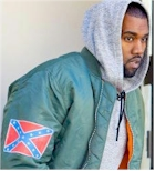 Kayne and the conferate battle flag