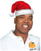 Troy Johnson Wearing Santa Hat