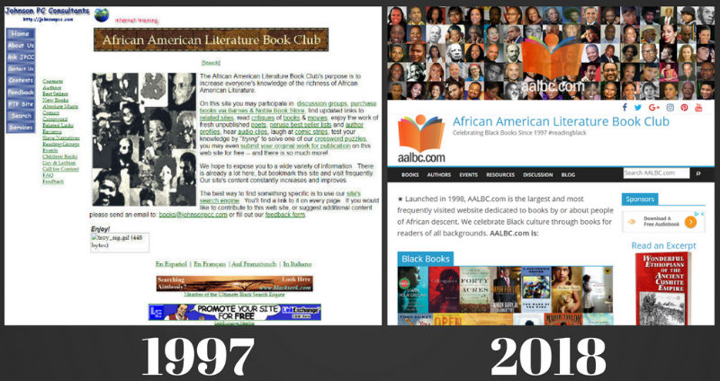 AALBC.com's Look Has Changed Quite a Bit Since 1997