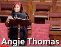 Bestseller author, Angie Thomas.