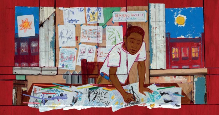 Sample Image from Radiant Child: The Story of Young Artist Jean-Michel Basquiat by Javaka Steptoe
