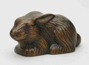 Hare_ligge_Havedekoration_bronzedekoration_gravsten_bronzefigur
