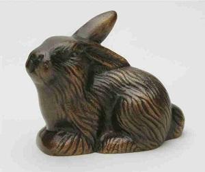 Hare_ligge_kvik_Havedekoration_bronzedekoration_gravsten_bronzefigur