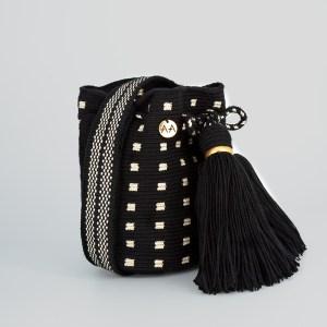 Rumba Small Bucket bag in Black/Gold Cross Body Handbag bucket bag