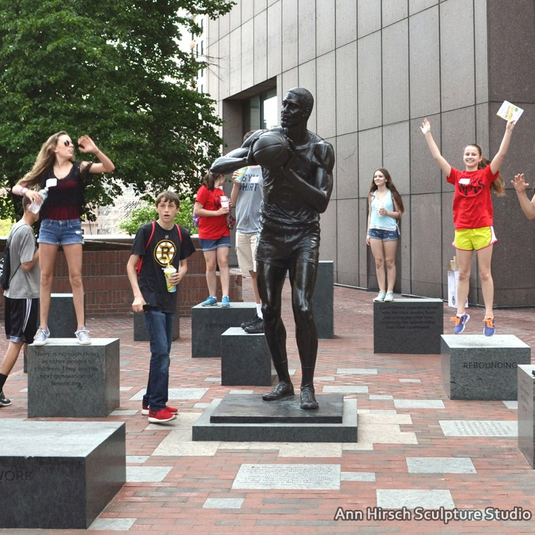 Ann Hirsch, Bill Russell Legacy Project, Boston City Hall Plaza, 2012-2015