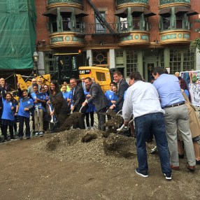Breaking ground, October 11th 2017.