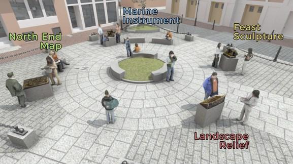 North Square Public Art Rendering