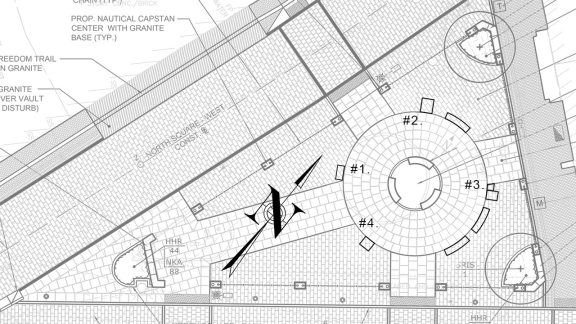 North Square Sculpture Placements Plan
