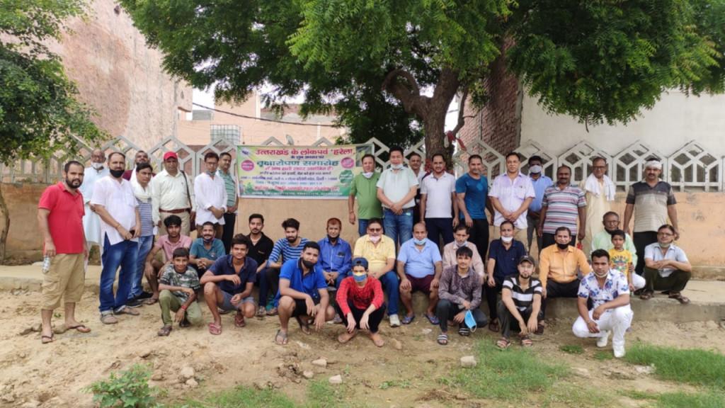 उत्तराखंड एकता मंच नरेला द्वारा उतराखंड के लोकपर्व  'हरेला' के शुभ अवसर परस्वच्छता व वृक्षारोपण का आयोजन