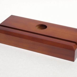 Wooden Fan Base with Cherry Finish