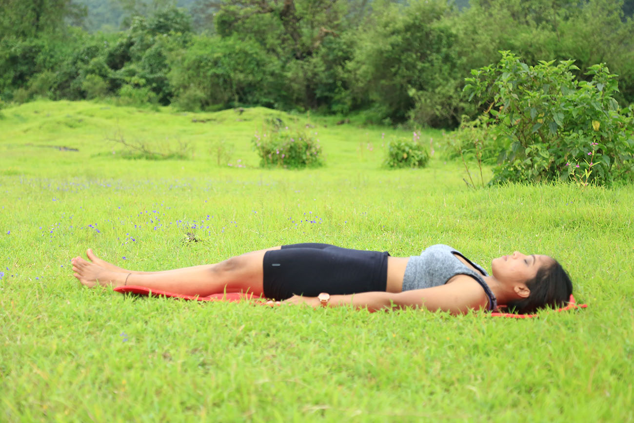 Corpse pose for Yoga Nidra
