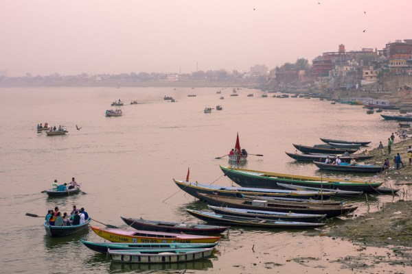The Holy city of Varanasi on the Ganga