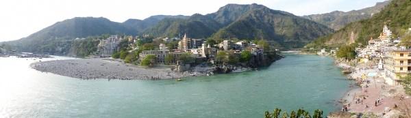 Rishikesh panorama on the Ganges