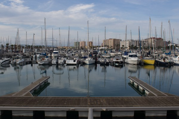 The port of La Linea