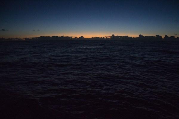 The Atlantic blue hour