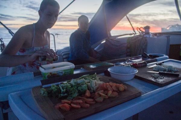 Open sky kitchen