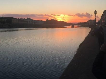 Sunset across the Arno