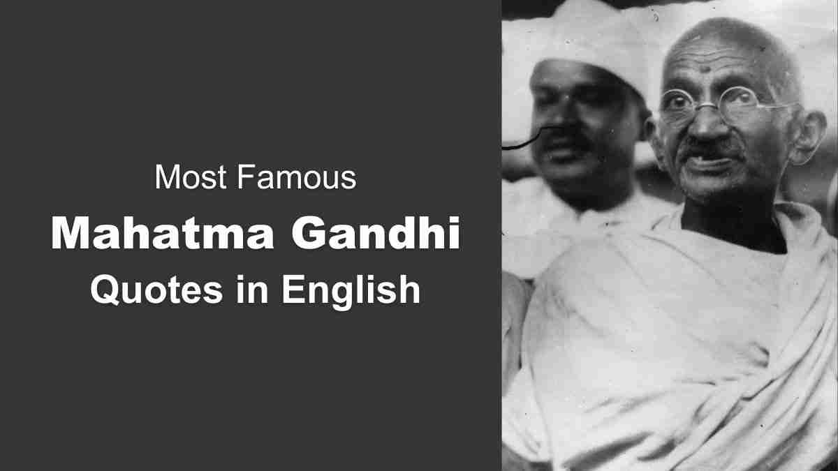 Most Famous Motivational Quotes in English by Mahatma Gandhi