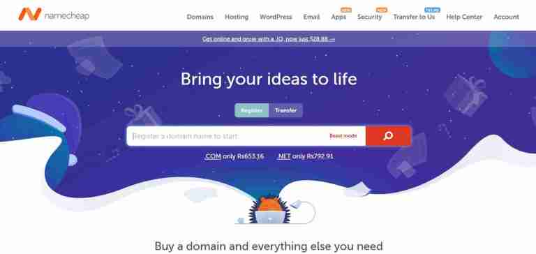 Buy a domain name from Namecheap