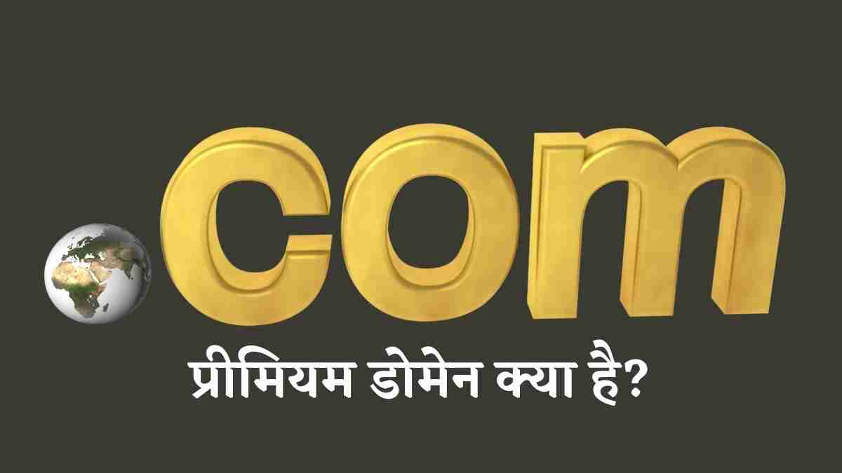 प्रीमियम डोमेन क्या है What is a Premium Domain in Hindi