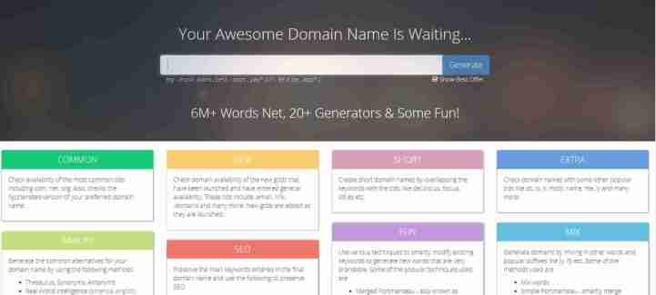 Name Mesh: Perfectionist के लिए एक smart domain name suggestion tool
