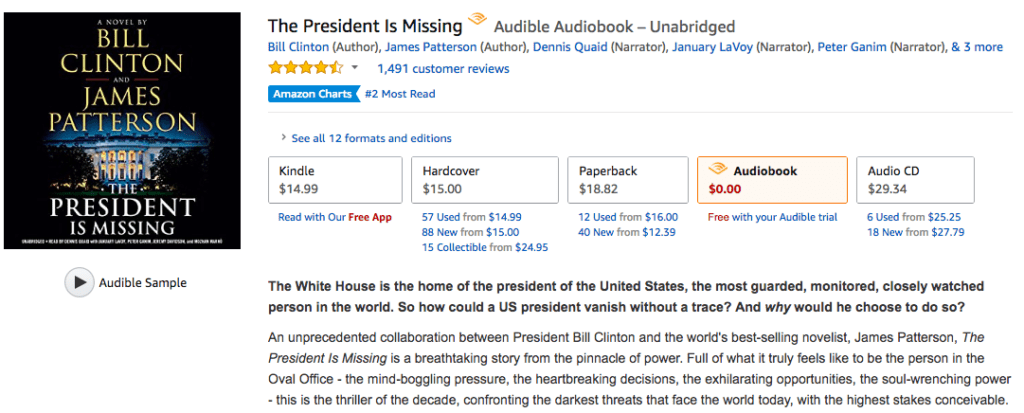 Audible Free Trial - Sign Up Today For 30 Day Trial - Get 2 Free