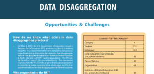Data Disaggregation: Opportunities & Challenges