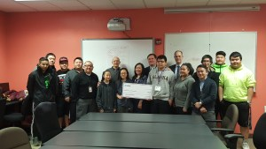 AT&T presents a $95,000 AT&T donation to the Hmong American Partnership to support their ULEAD program and help create career pathways for low-income Southeast Asian youth.