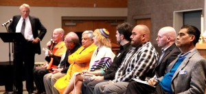 Leaders of diverse faith traditions who participated in the Orlando shootings memorial event in Reno, Nev. on June 12, 2016. (Photo byGeorge Anastassatos)